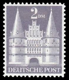 2 DM Briefmarke: Historische Bauten (Dauermarkenserie)