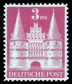 3 DM Briefmarke: Historische Bauten (Dauermarkenserie)