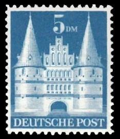 5 DM Briefmarke: Historische Bauten (Dauermarkenserie)
