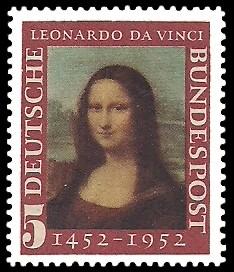 5 Pf Briefmarke: 500. Geburtstag Leonardo da Vinci