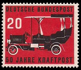 20 Pf Briefmarke: 50 Jahre Kraftpost
