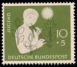 10 + 5 Pf Briefmarke: Jugend
