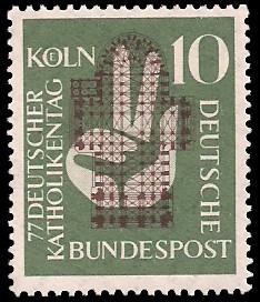 10 Pf Briefmarke: 77. Deutscher Katholikentag