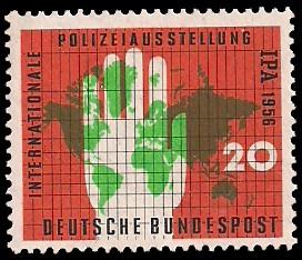 20 Pf Briefmarke: IPA, Polizeiausstellung