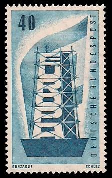 40 Pf Briefmarke: Europamarke