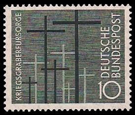 10 Pf Briefmarke: Kriegsgräberfürsorge