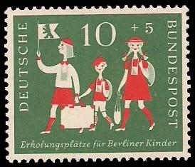 10 + 5 Pf Briefmarke: Erholungsplätze für Berliner Kinder
