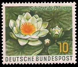 10 Pf Briefmarke: Schützt die Pflanzen