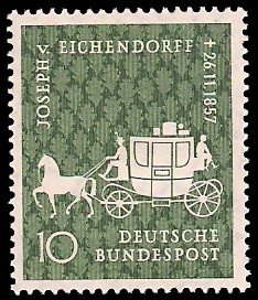 10 Pf Briefmarke: 100. Todestag Joseph von Eichendorff