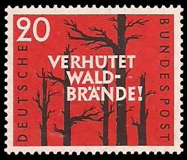 20 Pf Briefmarke: Verhütet Waldbrände