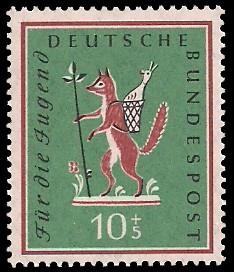 10 + 5 Pf Briefmarke: Für die Jugend, 1958
