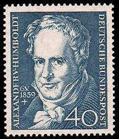 40 Pf Briefmarke: 100. Todestag Alexander von Humboldt