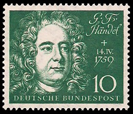 10 Pf Briefmarke: Einweihung der Beethoven-Halle zu Bonn