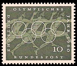 10 Pf Briefmarke: Olympisches Jahr 1960