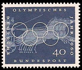 40 Pf Briefmarke: Olympisches Jahr 1960