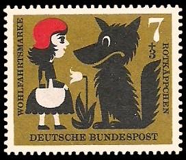 7 + 3 Pf Briefmarke: Wohlfahrtsmarke 1960, Märchen