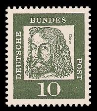 10 Pf Briefmarke: Bedeutende Deutsche