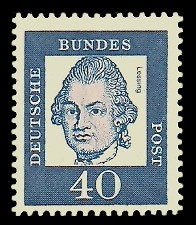40 Pf Briefmarke: Bedeutende Deutsche
