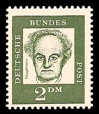 2 DM Briefmarke: Bedeutende Deutsche