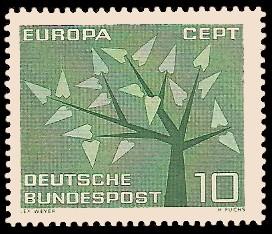 10 Pf Briefmarke: Europamarke 1962