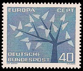 40 Pf Briefmarke: Europamarke 1962