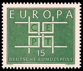 15 Pf Briefmarke: Europamarke 1963