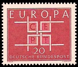 20 Pf Briefmarke: Europamarke 1963