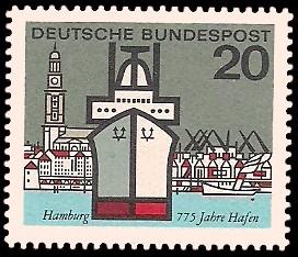 20 Pf Briefmarke: Hauptstädte der Bundesländer, Hamburg