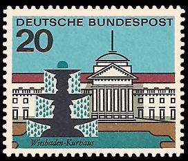 20 Pf Briefmarke: Hauptstädte der Bundesländer, Wiesbaden