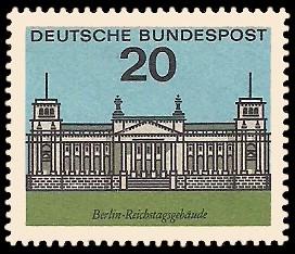 20 Pf Briefmarke: Hauptstädte der Bundesländer, Berlin