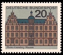 20 Pf Briefmarke: Hauptstädte der Bundesländer, Mainz