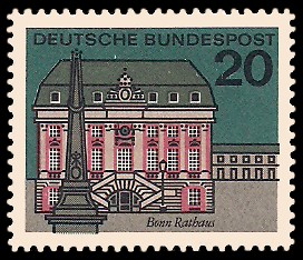 20 Pf Briefmarke: Hauptstädte der Bundesländer, Bonn