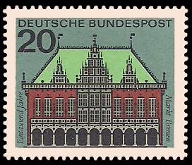 20 Pf Briefmarke: Hauptstädte der Bundesländer, Bremen