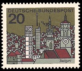 20 Pf Briefmarke: Hauptstädte der Bundesländer, Stuttgart