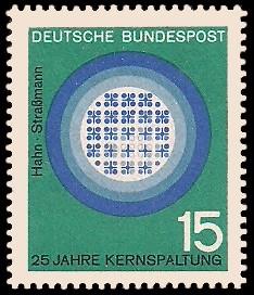 15 Pf Briefmarke: 25 Jahre Kernspaltung