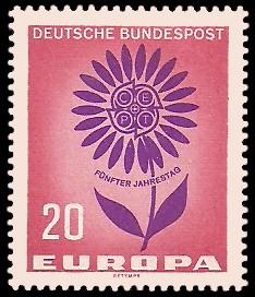 20 Pf Briefmarke: Europamarke 1964