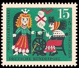 15 + 5 Pf Briefmarke: Wohlfahrtsmarke 1964, Dornröschen