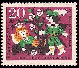 20 + 10 Pf Briefmarke: Wohlfahrtsmarke 1964, Dornröschen