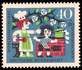 40 + 20 Pf Briefmarke: Wohlfahrtsmarke 1964, Dornröschen