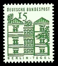 15 Pf Briefmarke: Deutsche Bauwerke