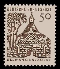 50 Pf Briefmarke: Deutsche Bauwerke