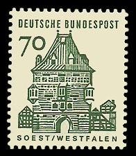 70 Pf Briefmarke: Deutsche Bauwerke