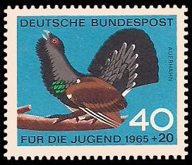 Für Die Jugend 1965 Federwild Briefmarke Brd