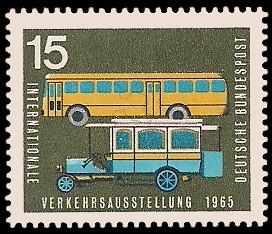 15 Pf Briefmarke: Internationale Verkehrsausstellung 1965
