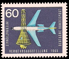 60 Pf Briefmarke: Internationale Verkehrsausstellung 1965