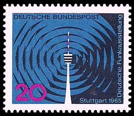 20 Pf Briefmarke: Deutsche Funkausstellung 1965