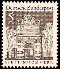 5 Pf Briefmarke: Deutsche Bauwerke