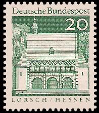 20 Pf Briefmarke: Deutsche Bauwerke
