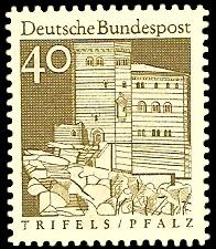 40 Pf Briefmarke: Deutsche Bauwerke