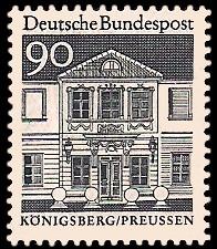 90 Pf Briefmarke: Deutsche Bauwerke